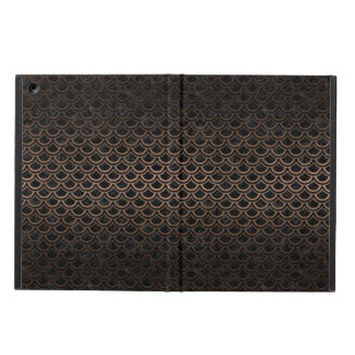 CAPA PARA iPad AIR METAL PRETO DO MÁRMORE SCALES2 & DO BRONZE