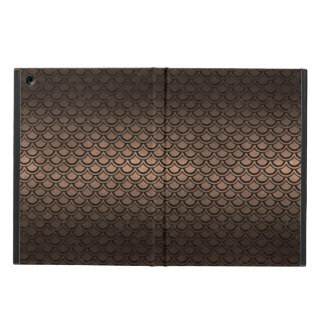 CAPA PARA iPad AIR METAL PRETO DO MÁRMORE SCALES2 & DO BRONZE (R)