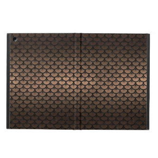 CAPA PARA iPad AIR METAL PRETO DO MÁRMORE SCALES3 & DO BRONZE (R)