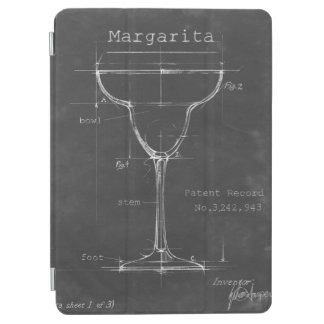 Capa Para iPad Air Modelo preto & branco do vidro de Margarita