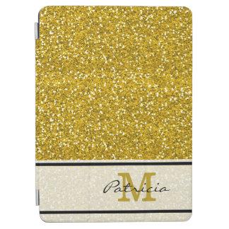 Capa Para iPad Air Monograma elegante do brilho do ouro