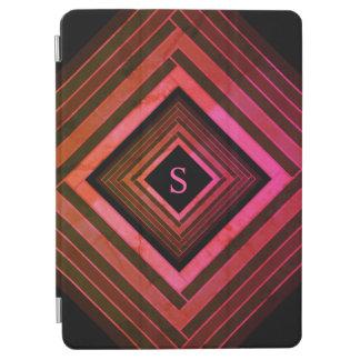 Capa Para iPad Air Monograma geométrico cor-de-rosa rústico dos