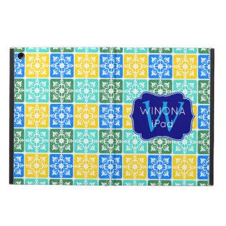 Capa Para iPad Air Monograma mediterrâneo dos azulejos da forma na