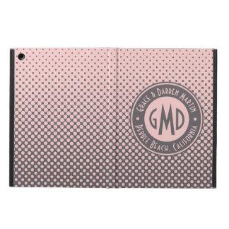 Capa Para iPad Air Na moda cinzento cor-de-rosa milenar do monograma