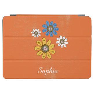 Capa Para iPad Air Nome colorido boémio do costume das flores