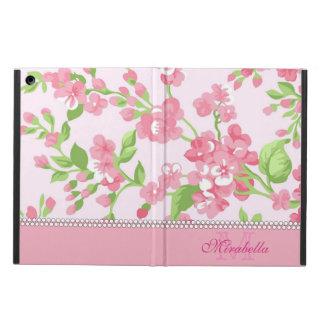Capa Para iPad Air Nome de ramos cor-de-rosa da flor da aguarela do