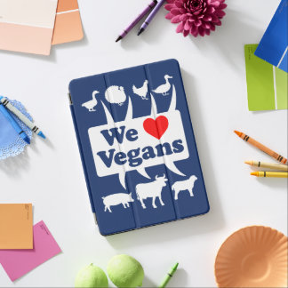 Capa Para iPad Air Nós amamos os Vegans II (brancos)