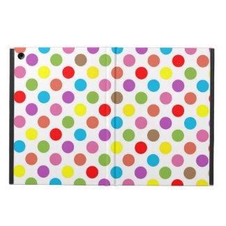 Capa Para iPad Air O arco-íris colore o teste padrão de bolinhas