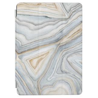 Capa Para iPad Air O cinza marmoreou o design abstrato