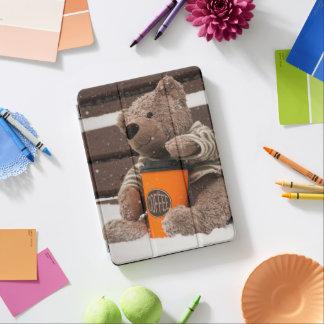 Capa Para iPad Air O feliz ano novo 2018. Urso de ursinho