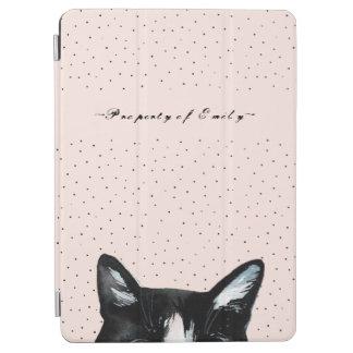 Capa Para iPad Air O gato espreitando curioso adorável com pontos