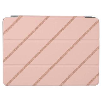 Capa Para iPad Air o pêssego pastel do brilho cor-de-rosa do ouro