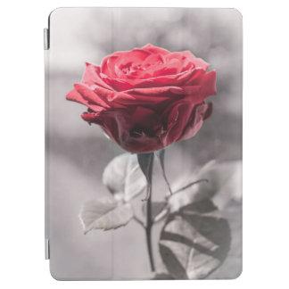 Capa Para iPad Air O vermelho é o enevoado branco da rosa vermelha do