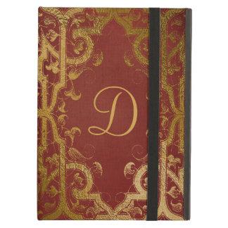 Capa Para iPad Air O vermelho e o livro antigo do ouro olham a caixa