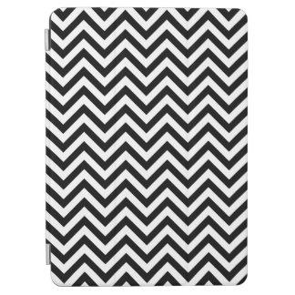 Capa Para iPad Air O ziguezague preto e branco listra o teste padrão
