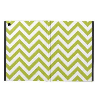 Capa Para iPad Air O ziguezague verde e branco listra o teste padrão