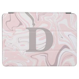 Capa Para iPad Air Olhar de mármore cor-de-rosa e branco minimalista