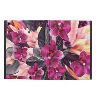 Capa Para iPad Air Orquídeas. Design tropical com flores bonitas