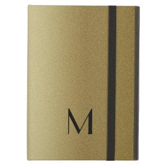 Capa Para iPad Air Ouro elegante e monograma preto