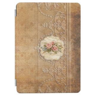 Capa Para iPad Air Ouro gravado vintage Scrollwork e rosas