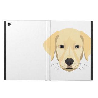Capa Para iPad Air Ouro Retriver do filhote de cachorro da ilustração
