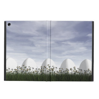 Capa Para iPad Air Ovos da páscoa brancos na natureza - 3D rendem