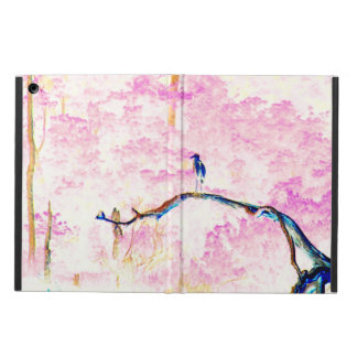Capa Para iPad Air Paisagem da flor de cerejeira com pássaro