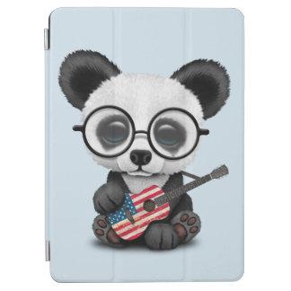 Capa Para iPad Air Panda do bebê que joga a guitarra da bandeira