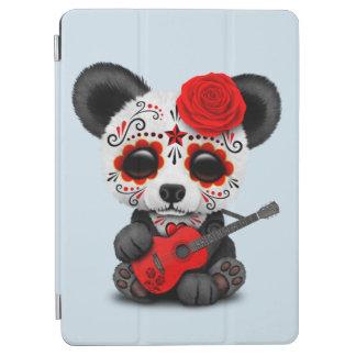Capa Para iPad Air Panda vermelha do crânio do açúcar que joga a
