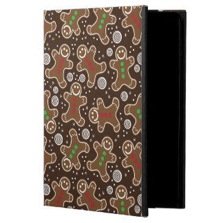 Capa Para iPad Air Pão-de-espécie verdes vermelhos bonitos do Natal