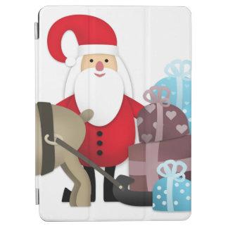 Capa Para iPad Air Papai noel & sua rena com presentes