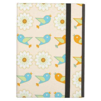 Capa Para iPad Air Pássaros e margaridas