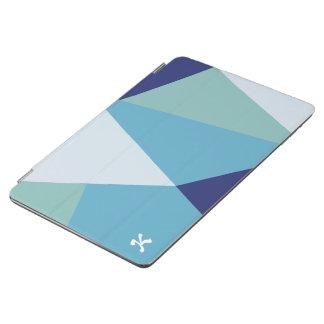 Capa Para iPad Air Pastel geométrico elegante dos azuis marinhos e do
