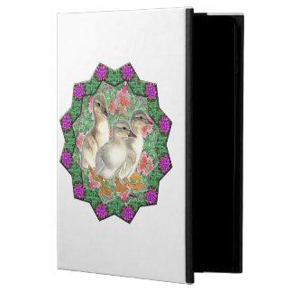 Capa Para iPad Air Patinhos e flores