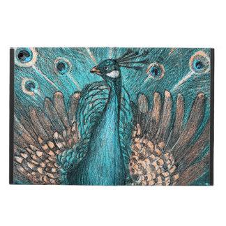 Capa Para iPad Air pavão azul