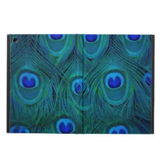 Capa Para iPad Air Pena parisiense do pavão do verde da cerceta do