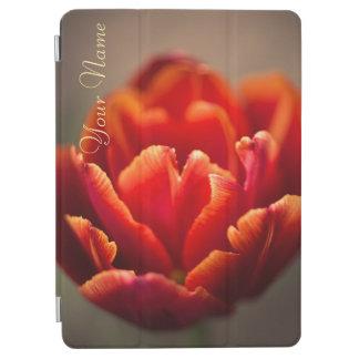 Capa Para iPad Air Pétalas vermelhas bonito da tulipa. Adicione seu