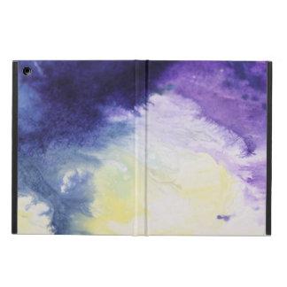 Capa Para iPad Air Pintura amarela azul feliz calma do abstrato do
