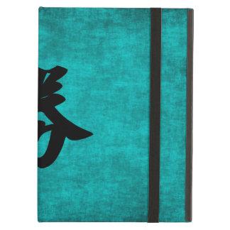Capa Para iPad Air Pintura do caráter chinês para o sucesso no azul