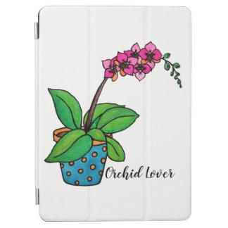 Capa Para iPad Air Planta da orquídea da aguarela no pote bonito