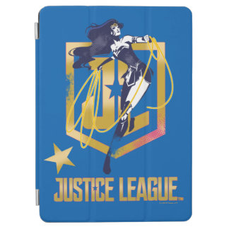 Capa Para iPad Air Pop art do logotipo da mulher maravilha JL da liga