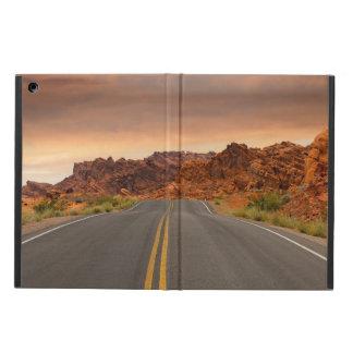Capa Para iPad Air Por do sol da viagem por estrada