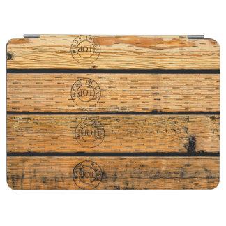 """Capa Para iPad Air Pranchas de madeira carimbadas com """"feito nos EUA"""