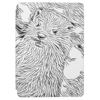 Capa Para iPad Air Preto e branco manchado de tinta - lontra