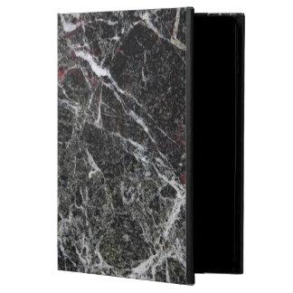Capa Para iPad Air Preto e claro na moda - textura de mármore
