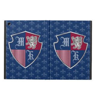 Capa Para iPad Air Protetor de prata do emblema do monograma da
