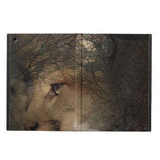 Capa Para iPad Air Puma selvagem do leão de montanha da silhueta da