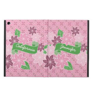Capa Para iPad Air Quimono cor-de-rosa de Japão da bandeira do verde
