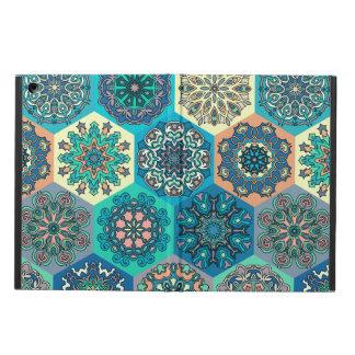 Capa Para iPad Air Retalhos do vintage com elementos florais da
