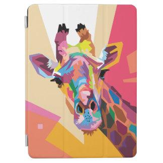 Capa Para iPad Air Retrato colorido do girafa do pop art